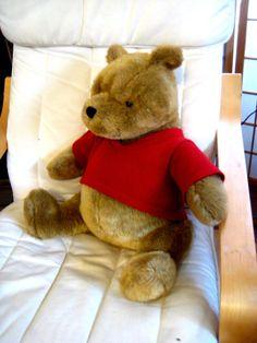 "Adorable GUND Winnie the Pooh Bear Disney Classic Plush in Red Shirt Large 14"" #GUND #pooh #winniethepooh"