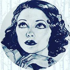 It's #hispanicheritagemonth  and I'm planning to #quicksketch an icon/historic figure a day till October 15th. I'm a little behind but excited to catch up. Tonight's #sketching  is the #mexican #spitfire , #lupevelez. While her life was cut short, her legacy has lived on. She was an inspiration  to the likes of #ediesedgwick  and  #andywarhol.S he was the first #hispanic woman to break into Hollywood. #sketchbook #illustration #doodlesofinstagram #latina#iamlatina…