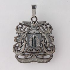 USA Seller *o n l y * l o v*e  y o u * mens or woman\'s Pendant Dragon Coat Of Arms w/ Eagle & Bullet Stainless Steel. Starting at $1