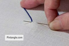 step by step tutorial on how to work bullion stitch 1