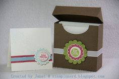 Stampin Nerd: 3x3 Cards and Gift Box -- Mixed Medley