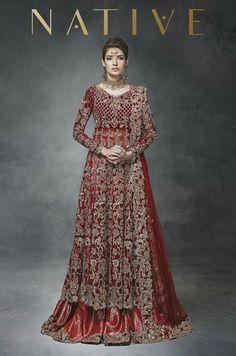 Brick Red and Gold Embroidered Heavy Bridal Lehenga Asian Bridal Dresses, Indian Bridal Outfits, Pakistani Wedding Outfits, Indian Bridal Fashion, Pakistani Wedding Dresses, Indian Dresses, Indian Suits, Shadi Dresses, Bride Dresses
