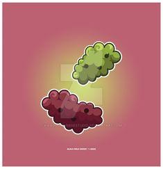 Kawaii Grapes by KawaiiUniverseStudio.deviantart.com on @DeviantArt
