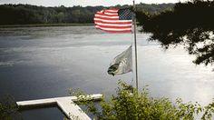 American Flag GIF  | Camp Wandawega | Wisconsin | American Road Trip | TRNK