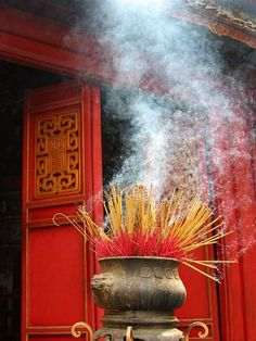 Fortune Cookie: ~ Joss sticks at a Buddhist Temple.