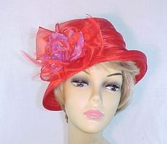 Petite And Playful Cloche Hat - Red Hat Society Ladies.  Lovely hat only $44.95 check it out here: http://myredhatstore.com/Petite-And-Playful-Cloche-Hat-Red-Hat-Society-Ladies-CC002.htm