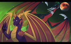 Adult Cynder and Spyro Spyro And Cynder, Spyro The Dragon, Here Be Dragons, Skylanders, Video Games, World, Httyd, Mythical Creatures, Character Art
