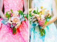 Bright floral bridal bouquet