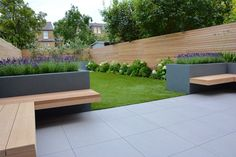 Balham, London - Tom Howard Gardens Balham, London - Tom Howard Gardens In modern cities, it is practically impossible to sit down in a house with the garde. Backyard Patio Designs, Small Backyard Landscaping, Backyard Ideas, Front Garden Ideas Driveway, Contemporary Garden Design, Modern Design, Back Garden Design, Garden Spaces, Outdoor Gardens