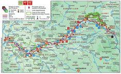 Carte du Pays de Loire : Plan touristique Chateaux de la Loire