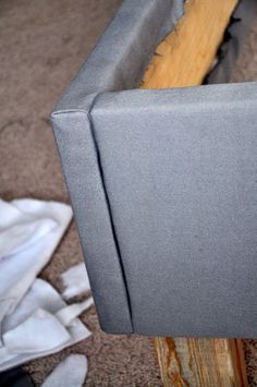 DIY upholstered bedframe that you can take apart when you move :)