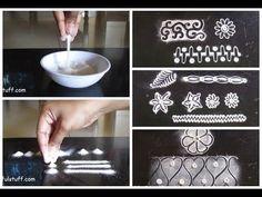 Rangoli basic techniques and innovative rangoli patterns | Poonam Borkar…