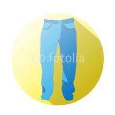 Unisex jean for business #button #fotolia #design #concept #tool #cart #shop #online #services #icon #vector #business