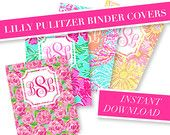 Free Printable Monogram Binder Covers from @chicfetti - make your ...