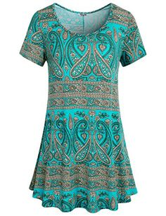 Swing Tops,Hibelle Womans Crew Neck Flattering Stentchy Soft Printed Pattern T Shirt Trapeze Blouses and Shirts Green L  Special Offer: $26.99  277 Reviews Elevate your daytime style in this dazzling tunic from Hibelle Features: Short sleeve Crew neckline Allover printed Pattern ...