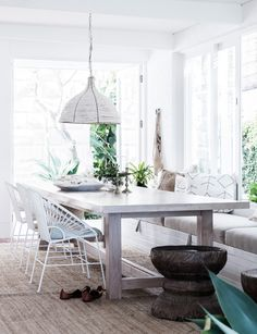 Dining room furniture ideas that are going to be one of the best dining room design sets of the year! Get inspired by these dining room lighting and furniture ideas! Dining Room Design, Dining Room Furniture, Dining Area, Furniture Ideas, Dining Sets, House Furniture, Contemporary Beach House, Custom Dining Tables, Deco Boheme