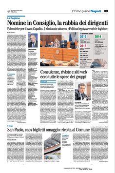 Elenco delle spese dei gruppi consiliari in Regione Campania: consulenze, riviste e siti web
