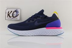 "Nike Epic React Flyknit ""Carbon Blue"" AQ0067-004 Nike Free, Sneakers Nike, Blue, Shoes, Fashion, Nike Tennis, Moda, Zapatos, Shoes Outlet"