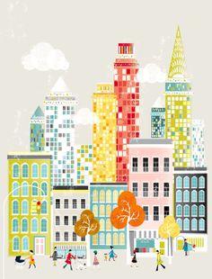 The city illustration