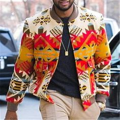 Print Jacket, Latest Fashion Clothes, Fashion Styles, Fashion Ideas, Fashion Inspiration, Design Inspiration, Fashion Prints, Types Of Sleeves, Street Wear