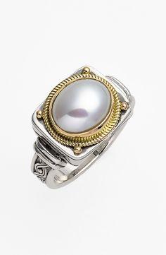 New Konstantino 'Classics' Pearl Ring,Gold Moonstone fashion online. [$610]newoffershop win<<