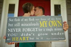 Miraculously My Own - The Perfect Sign for an adoptive family. $95.00, via Etsy.