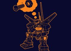 Lonely Robot Dirty Mind by injosh | Threadless