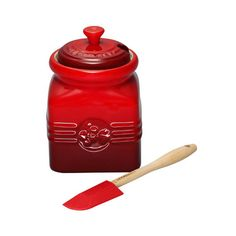 Le Creuset Berry Jam Jar & Spreader Cassis - On Sale Now!