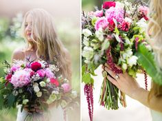 pink boho bouquet