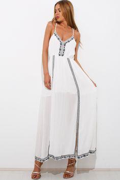 Long Lost Summer Dress, White, $79 + Free express shipping http://www.hellomollyfashion.com/long-lost-summer-maxi-dress-white.html