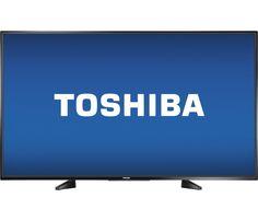 "Toshiba - 55"" Class (54.6"" Diag.) - LED - 1080p - Smart - HDTV - Black - Front Zoom"