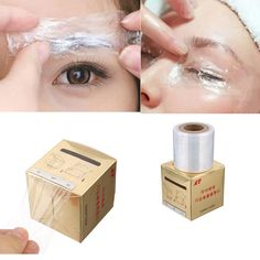 New 1Box Tattoo Plastic Wraps Cover Preservative Film Semipermanent Makeup Tattoos Eyebrow Liner Tattoo Accessory 50MM*200M