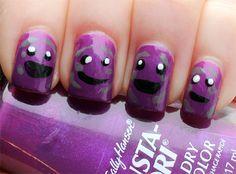 South Park Member Berries Nail Art Manicure!