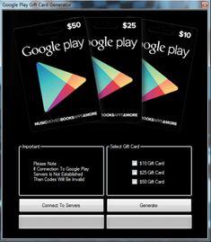 Google play gift card generator password