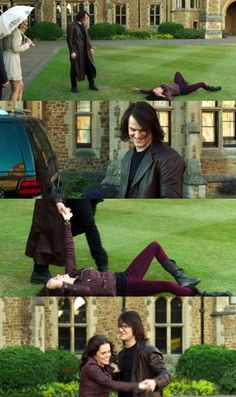 """LOVE THIS SCENE. Especially his smile. <3  """"It's just a little something Dimitri and I do to keep each other on our toes."""""""
