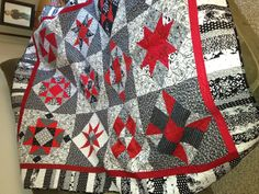 "Designed by Pat Wys ""just around the corner"" and quilted by Leisa Wiggley"