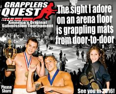 The sight I adore on an arena floor is grappling mats from door-to-door Brazilian Jiu Jitsu, Judo, Wrestling, Floor, Movie Posters, Movies, Lucha Libre, Pavement, Films