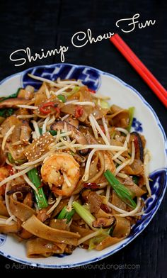 Hi guys! Today I'm going to share delicious and easy Shrimp Chow Fun recipe with you! I partnered with Pearl River Bridge, the most popular Chinese soy sauce company in U.S… food recipe fish Shrimp Chow Fun Recipe & Video - Seonkyoung Longest Fish Recipes, Seafood Recipes, Asian Recipes, Cooking Recipes, Ethnic Recipes, Noodle Recipes, Yummy Recipes, Chinese Recipes, Seafood Dishes