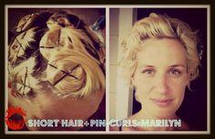 Short hair+pin-curls=Marilyn  pin-curls for short hair.