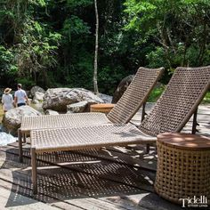 Made with nautical rope, Tidelli Giardino Outdoor Chaise Chair is a must have in any patio.