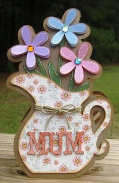 pitcher of flowers card...lovely!!!
