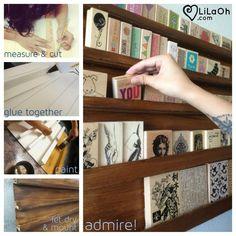 Rubber Stamp Storage Display Foamboard Shelf DIY DIY Snapshots - LiLaOh!