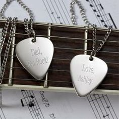 Personalized Silver Guitar Pick Necklace  $49.95