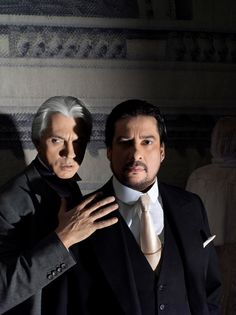 Marcelo Álvarez y Dmitri Hvorostovsky. Un Ballo in Maschera (Giuseppe Verdi). Foto Metropolitan Opera House/Temporada 2012-2013