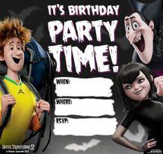 Birthday Party Invitation Johnny, Mavis and Dracula - Hotel Transylvania 2 Activities and Recipes | SKGaleana