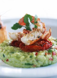 Low FODMAP Recipe and Gluten Free Recipe - Langoustine risotto with zucchini and roasted tomatoes  http://www.ibssano.com/low_fodmap_recipe_langoustine_risotto.html
