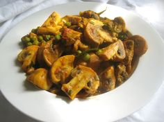 Spicy Mushroom Green Pea Curry | Lisa's Kitchen | Vegetarian Recipes | Cooking Hints | Food