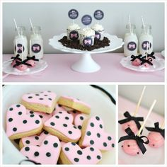 Sweet and Chic Bow Themed Valentine's Day Party with Lots of Cute Ideas via Kara's Party Ideas KarasPartyIdeas.com #pinkbowparty #valentines... Valentine Treats, Valentines Day Party, Valentine Stuff, Minnie Mouse Party, Mouse Parties, Paris Party, Beverage Bars, Reveal Parties, Young Moms
