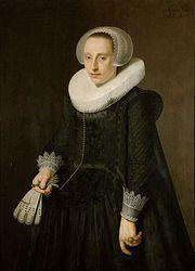 """Nicolaes Eliasz Pickenoy, Portrait of a woman (""""Josina van Segwaert""""), 1628 - Stedelijk Museum Alkmaar"""