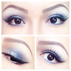 Eye make up #blue #eyeshadow #eyeliner #anastaciacid